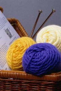 Knitting Basket Photo