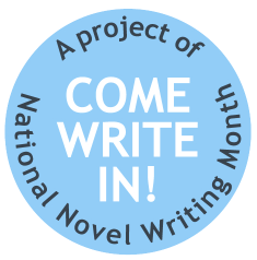 Come Write In round logo