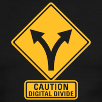 Digital Divide Road Sign