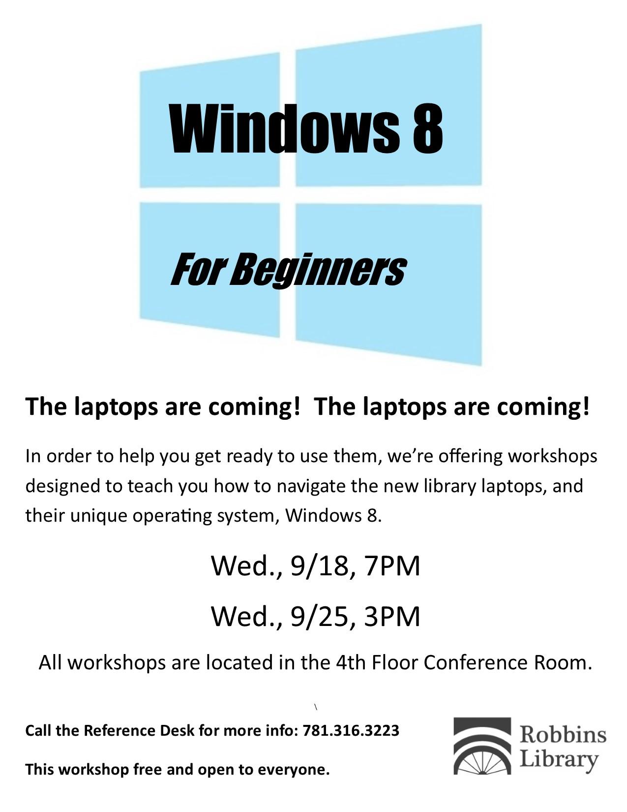 windows 8 workshops   robbins library blog