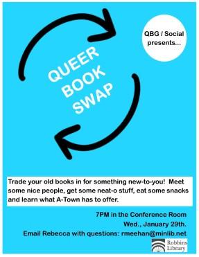 QBGsocial Book swap January 13