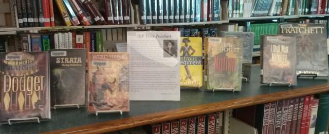 display of Terry Pratchett books