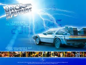 The DeLorean and lightning from Back to the Future