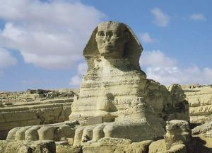 The Great Sphinx at Giza, 4th dynasty. From Britannica Concise Encyclopedia.
