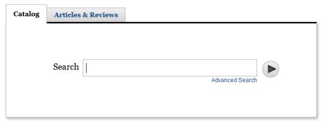 screenshot of new catalog search box