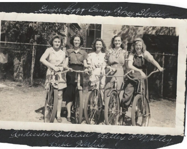 Cyclists Ginger, Peggy, Bunny, Blondie, & Honey