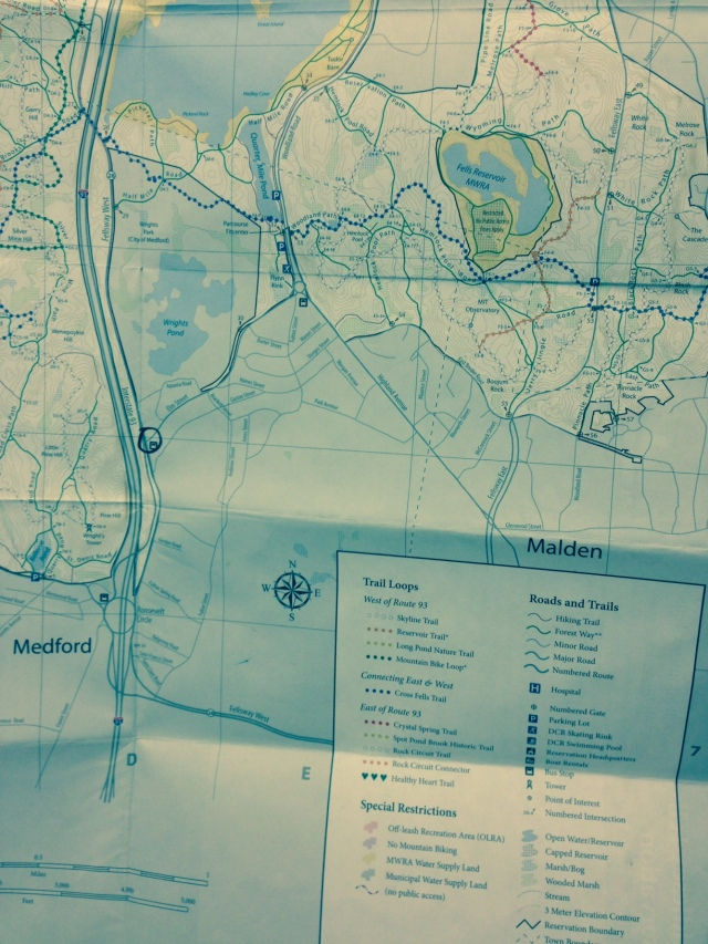 a map of Middlesex Fells