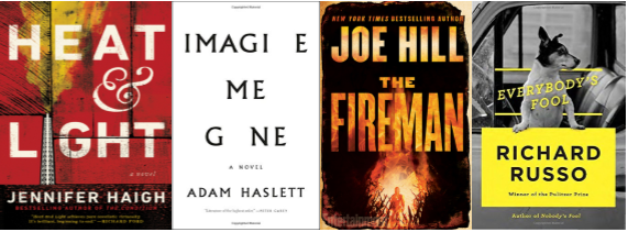 Cover images of Heat & Light, Imagine Me Gone, The Fireman, Everybody's Fool