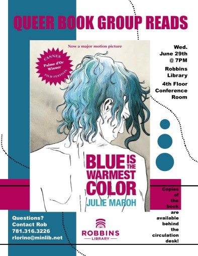 QBG reads Blue is the Warmest Color | Robbins Library Blog