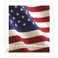 USA Forever flag stamp