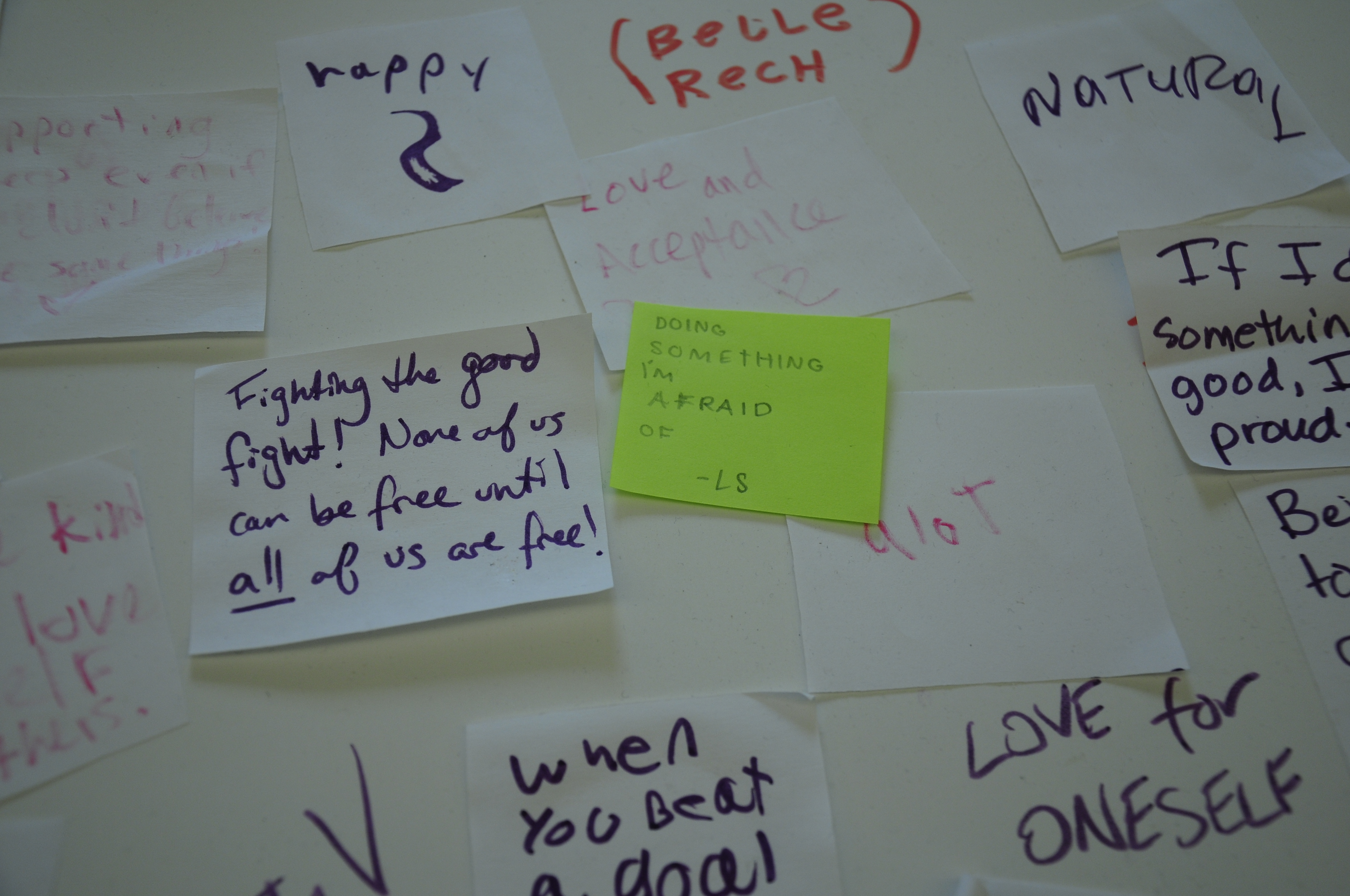 "Some Notes Left By Library Patrons In Response To The Prompt €�what Does  Pride Mean To You?"" That Was Featured On A Display Created By The Boston  Area"