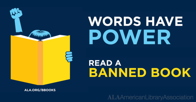 Words Have Power Read A Banned Book ALA graphic
