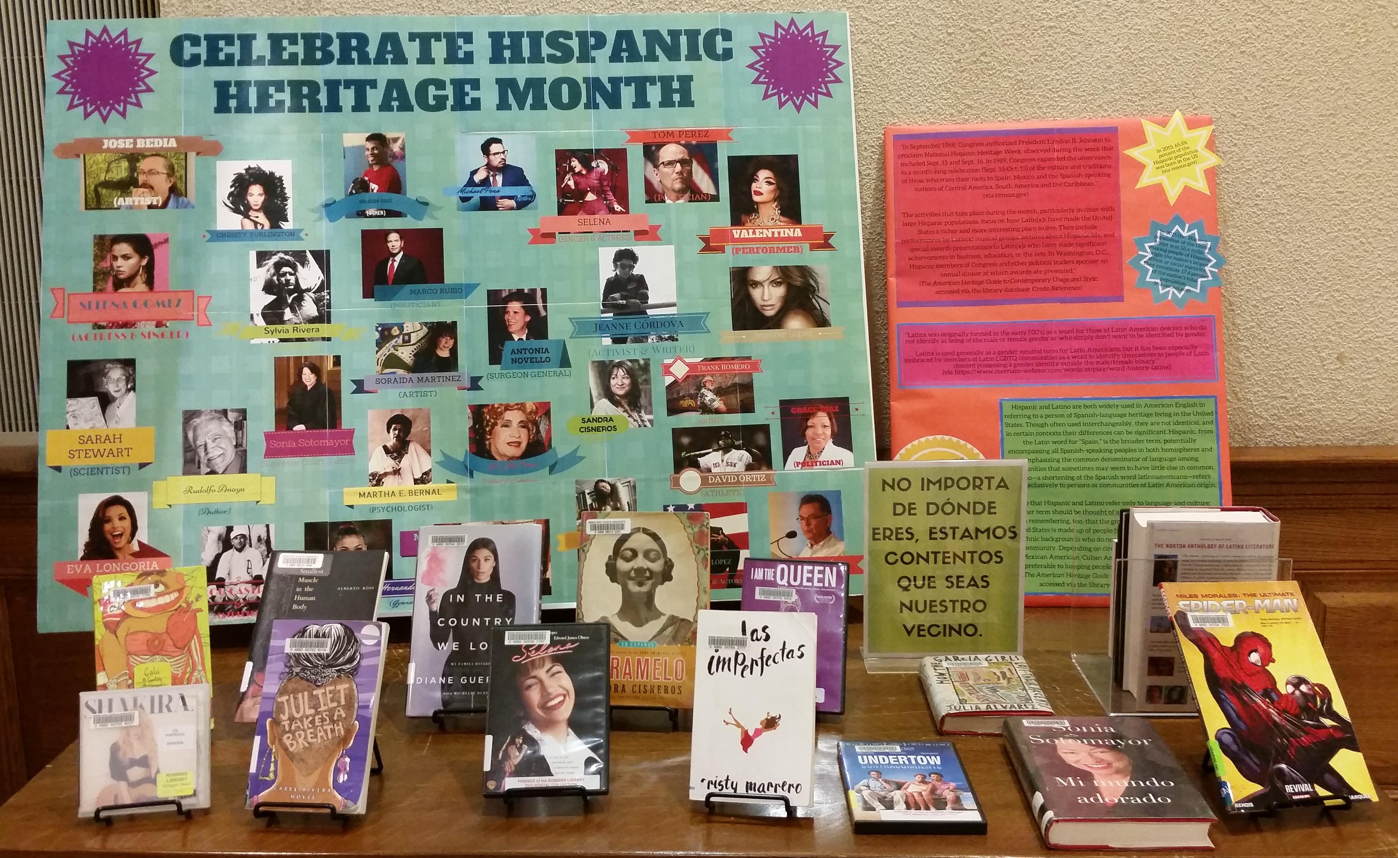 Celebrate Hispanic Heritage Month Robbins Library Blog