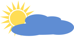 sun and cloud illustration from pixabay
