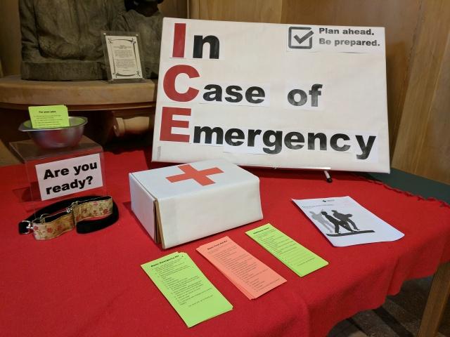 In Case of Emergency display