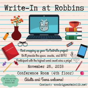 Social Media_ Write-In at Robbins